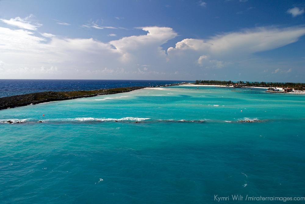Caribbean, Bahamas, Castaway Cay. Lagoon of Castaway Cay.