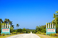 Municipal sign, Bartolome Maso area, Granma, Cuba.