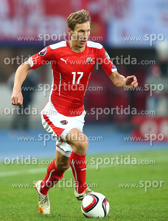 12.10.2015, Ernst Happel Stadion, Wien, AUT, UEFA Euro 2016 Qualifikation, Oesterreich vs Liechtenstein, Gruppe G, im Bild Florian Klein (AUT) // during the UEFA EURO 2016 qualifier group G between Austria and Liechtenstein at the Ernst Happel Stadion, Vienna, Austria on 2015/10/12. EXPA Pictures © 2015, PhotoCredit: EXPA/ Thomas Haumer