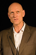 Peter Garrett, lead singer of Australian band Midnight Oil and now Australian Federal Member of Parliament, presenting a keynote address at the Fuse Festival on the 30 March 2007 in the Academy Cinema, Adelaide, South Australia.