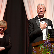 Tom and Camilla Tilford accept the 2012 Ignatian Spirit Award, Photo by Austin Ilg