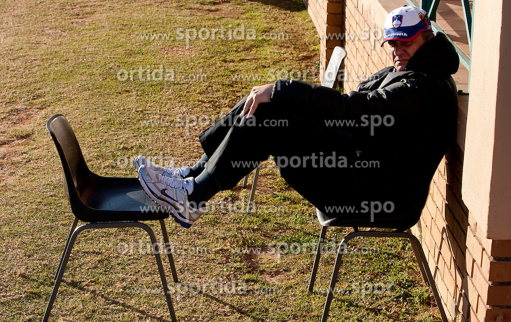 Mag. Ivan Simic of NZS watching a training session at  Hyde Park High School Stadium on June 16, 2010 in Johannesburg, South Africa.  (Photo by Vid Ponikvar / Sportida)