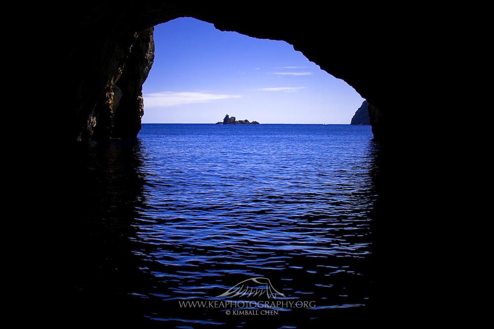 Riko Riko Cave, Poor Knights Island, New Zealand