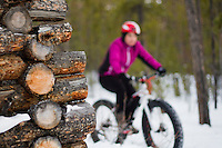 Rider - Heather LeDuc, Race Name - 5+ Hours of Light Fat Tire Festival (Winter Solstice Race), Trail Name - Boogaloo Heights, Whitehorse Yukon