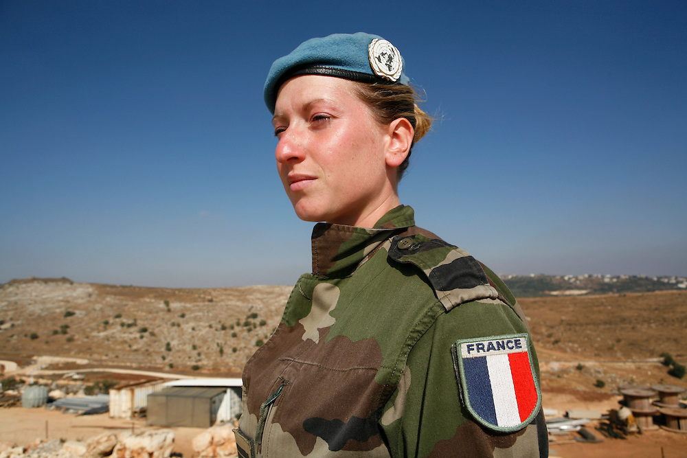 "Originally created in 1978, The United Nations Interim Force in Lebanon (UNIFIL) was created to ensure oversee an Israeli withdrawal from Lebanon, who at that time began its occupation of southern Lebanon that lasted until 2000. After the Israeli war on Lebanon in 2006, UNIFIL enhanced its presence in southern Lebanon to monitor the cessation of hostilities. ..Pictured: Lieutenant Stephanie Lugrin, Press Officer at the UNIFIL French Camp ""2.45"" in al-Tiri in southern Lebanon."
