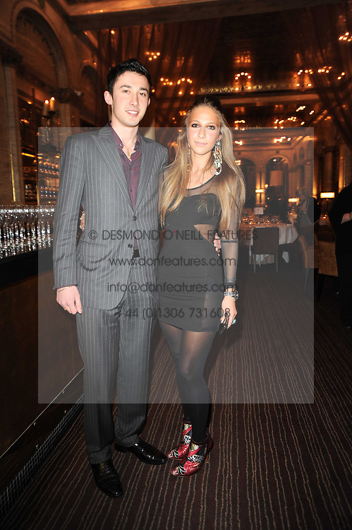 IRAKLI SOPROMADZE owner of the Criterion and his sister NINO SOPROMADZE  at a party to celebrate the 135th anniversary of The Criterion restaurant, Piccadilly, London held on 2nd February 2010.