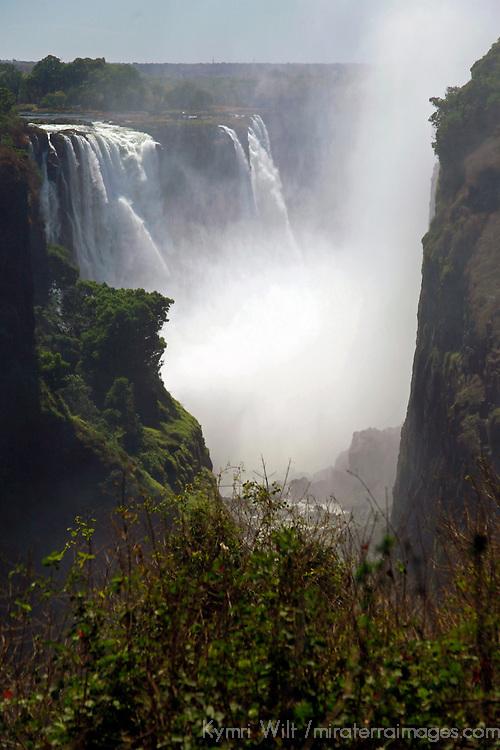 Africa, Zimbabwe, Victoria Falls. Victoria Falls, a UNESCO World Heritage Site.