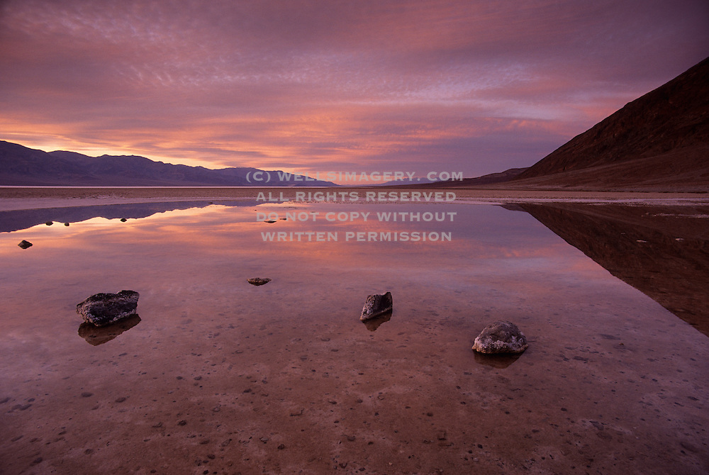 Image of Badwater Basin, Death Valley National Park, California, America west coast