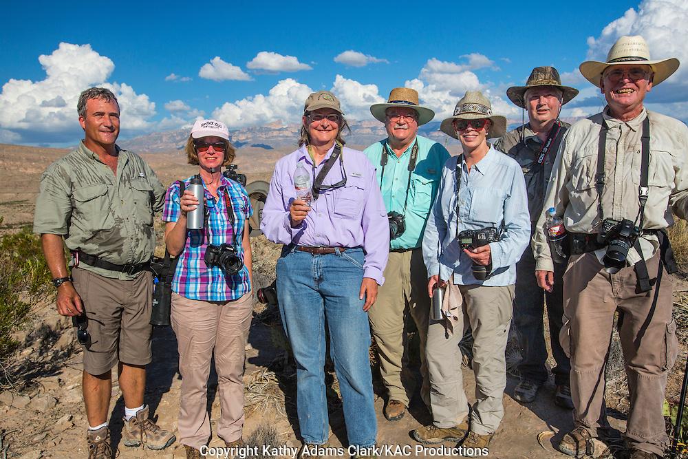 Photographers on workshop in Big Bend National Park, September 2014