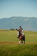 Eventing (equestrian triathlon), Cross Country event, The Event at Rebecca Farms, Kalispell, Montana, Caroline Smith, Paint