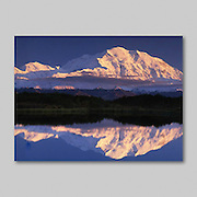 Alaska. McKinley Sunset. Reflection Pond.