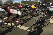 The Amgen Tour of California cycling race passes through the corner of 2nd and F Sts. in downtown Davis, CA  Monday, February 20, 2007.  Sacramento Bee/  Jay Mather
