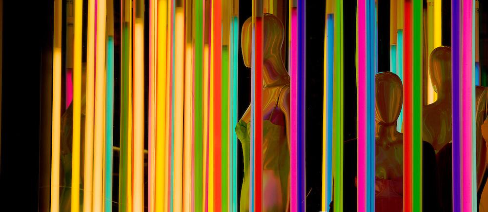 Louis Vuitton Store, 1 East 57th Street, New York City, New York, Neon