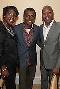 15 September 2010-New York, NY- l to r: Shawn R. Outler, Vice President - Finance of B.R.A.G, Marcus Samuelesson, and Gary Lamply, President, B.R.A.G at The LeQuan Smith 2011 Spring/Summer Fashion Show held at The Pennisula Hotel on September 15, 2010 in New York City. ..LaQuan Smith has designed custom fashions for artists including Lady Gaga, Rihanna, Aubrey O'day, Amerie and more. Smith's New York Fashion Week debut was held on February 15, 2010 and he has been featured in many media outlets including The New York Times, New York Daily News and Studio Magazine.