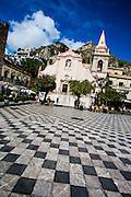 Church of St. Guiseppe on the Plaza IX Aprile, Corso Umberto, Taormina, Sicily, Italy