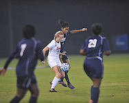 Ole Miss' Addie Forbus (25) vs. Jackson State's Alexandra Goutier (9) in NCAA Soccer Tournament in Oxford, Miss. on Friday, November 15, 2013. Ole Miss won 9-0.