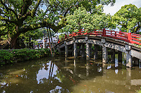 "Taikobashi Bridge spans over Shinjiike Pond represents the past, the present, and the future.  Shinjiike Pond is shaped to resemble the Chinese character for ""heart""."