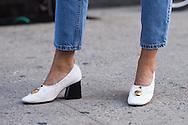 Danielle Bernstein at Rosie Assoulin SS2016 - detail - Celine shoes