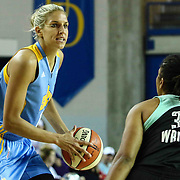 Chicago Sky Forward ELENA DELLE DONNE (11) looks to pass the ball in the third period of a WNBA preseason basketball game between the Chicago Sky and the New York Liberty Sunday, May. 01, 2016 at The Bob Carpenter Sports Convocation Center in Newark, DEL