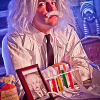 Eric Schultz as Einstein, ATIA Conference, Juneau, Alaksa