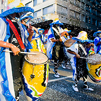 MMONTEVIDEO,URUGUAY-FEBRUARY 1: Candombe drummers are the star of Montevideo annual Carnaval, Candombe is a drum-based musical style of Uruguay. Candombe originated among the African population in Montevideo and is based on Bantu African drumming with some European influence and touches of Tango.