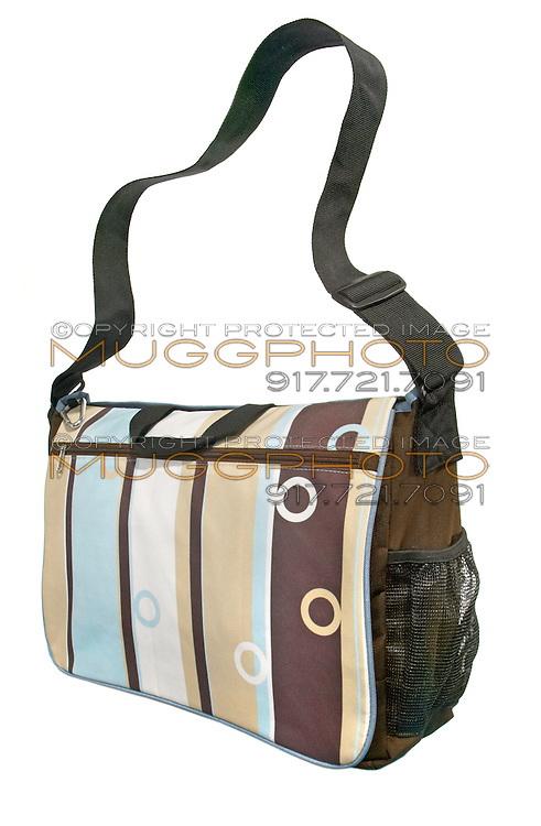 striped yoga bag