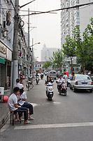 street scene in Shanghai China