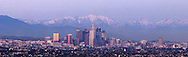 Los Angeles Skyline Winter Panoramic