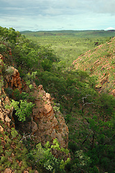 Early morning light strikes Talbot Gorge on Mt Hart Station on the Kimberley's Gibb River Road.  Mt Hart is a former cattle station, now run as a partnership between Taffy Abbott and the Department of Environment and Conservation.