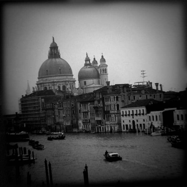"""Venetia Obscura a dark view of Venice (Venezia) Italy with strong iconic images in Black and White, ideal fro book cover about """"La Serenissima"""" as the ventian call Venice"""