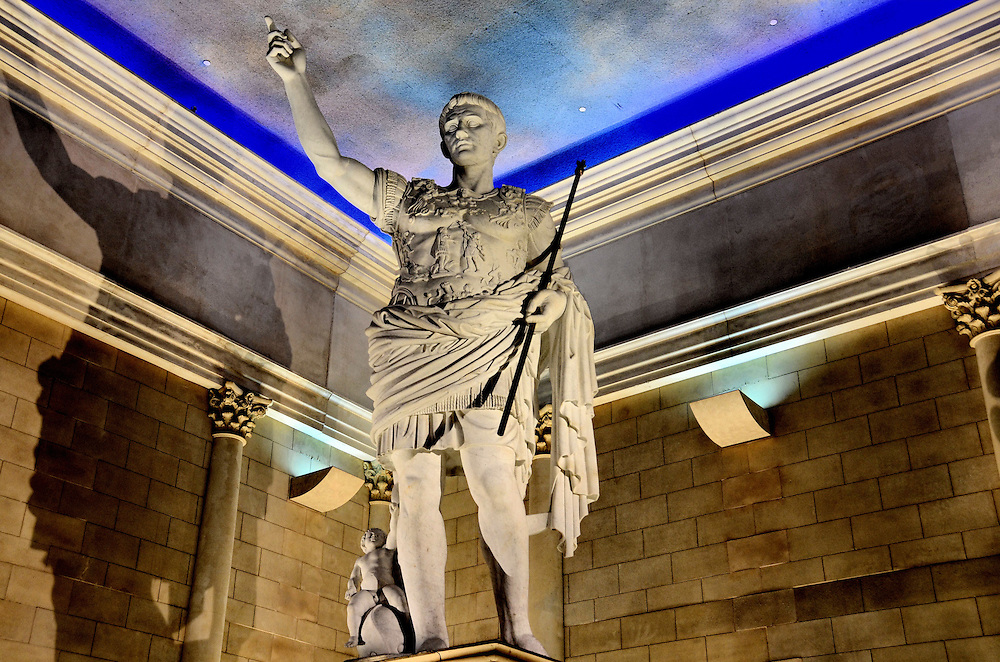 Caesar Statue Inside Caesars Atlantic City In Atlantic