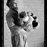 Cairo, Egypt  June 2008<br /> Makram Ahmed Hassin, 48 years old, potter.<br /> Photo: Ezequiel Scagnetti