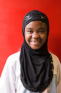 Sudanese refugee student at the International Baccalaureate School for refugees located in Stone Mountain Georgia