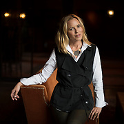 Maria Bello photographed at the Bowery Hotel, NYC. For interview with Maria Bello - actress, activist and author of new book, 'Love is Love', which riffs off her hugely popular Modern Love column in the New York Times about telling her son that she is involved with a woman.