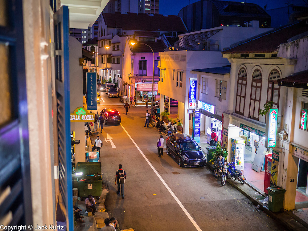 16 DECEMBER 2012 - SINGAPORE, SINGAPORE:  Perak Street in the Little India section of Singapore.     PHOTO BY JACK KURTZ