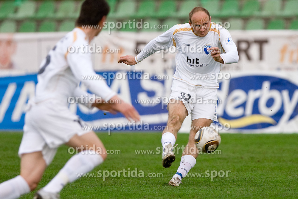 Milan Osterc of Gorica at 29th Round of 1st Slovenian football league match between NK Olimpija Ljubljana and HIT Gorica, on April 3, 2010, in ZAK stadium, Ljubljana, Slovenia. Olimpija defeated HIT Gorica 5-0.  (Photo by Vid Ponikvar / Sportida)