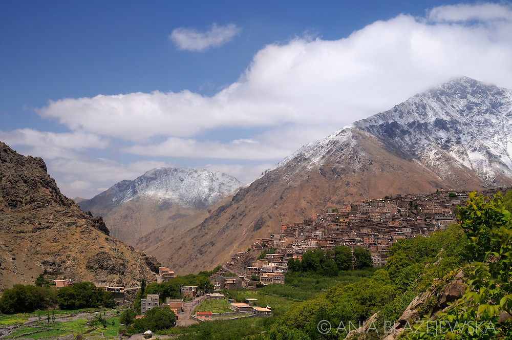Morocco, High Atlas Mountains. Aroumd village in the Imlil Valley.