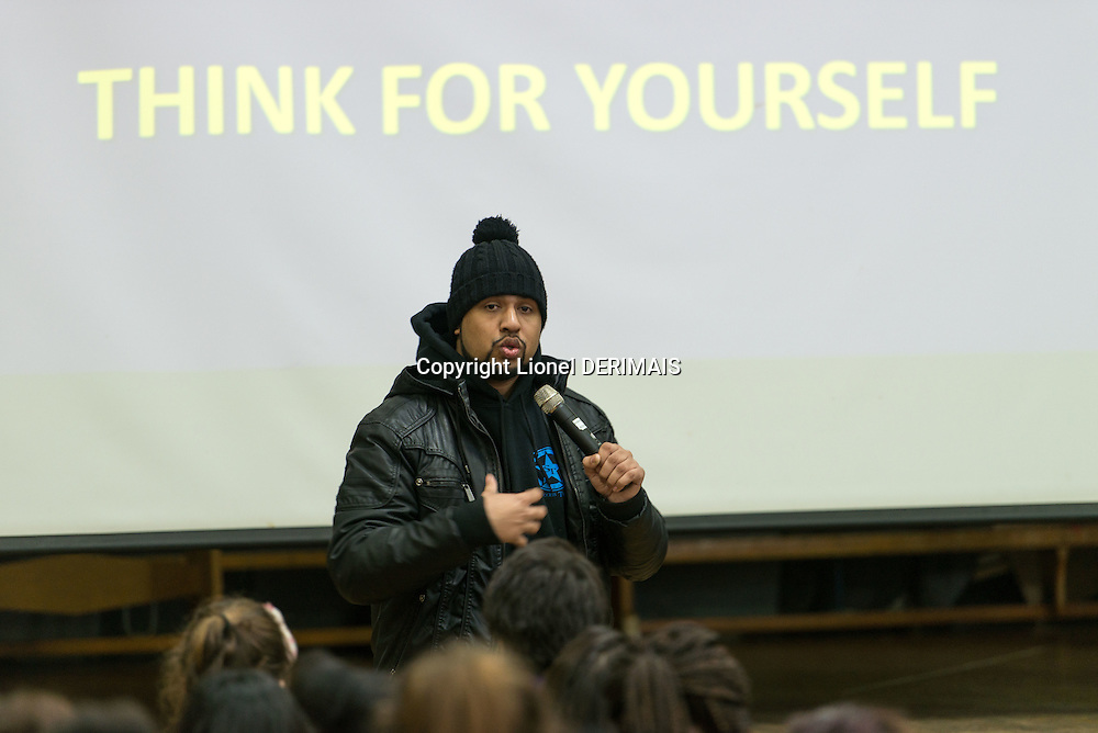 Humza Arshad, a muslim comedian, tours schools in London with Scotland Yard with his Think For Yourself show to help fight radicalisation and extremism.