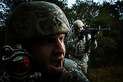 Members of the 802d Security Forces Squadron conduct training operations at Lackland Air Force Base in San Antonio, Texas.
