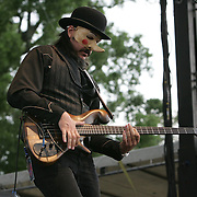 Les Claypool performs during the second day of the 2008 Bonnaroo Music & Arts Festival on June 13, 2008 in Manchester, Tennessee. The four-day music festival features a variety of musical acts, arts and comedians..Photo by Bryan Rinnert