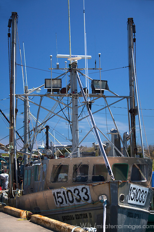 North America, Canada, Nova Scotia, Canso. Fishing Boat at Fisherman's Market Wharf in Canso.