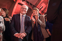 11 FEB 2017, BERLIN/GERMANY:<br /> Frank-Walter Steinmeier (L), SPD, Kandidat fuer das Amt des Bundespraesidenten, und Elke Buedenbender (R), Ehefrau von Steinmeier, waehrend einem Empfang der SPD anl. der Bundesversammlung, Westhafen Event und Convention Center<br />  IMAGE: 20170211-03-036<br /> KEYWORDS: Elke B&uuml;denbender