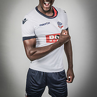New Bolton Wanderers signing Prince-Desir Gouano poses at the Macron Stadium.<br />