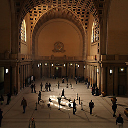 People walk through the central hall of the High Court in Cairo, Eqypt on March 5, 2008. This is where many family court cases are often heard. Recently in the Muslim world, the reputation of Shariah law has undergone an extraordinary revival.