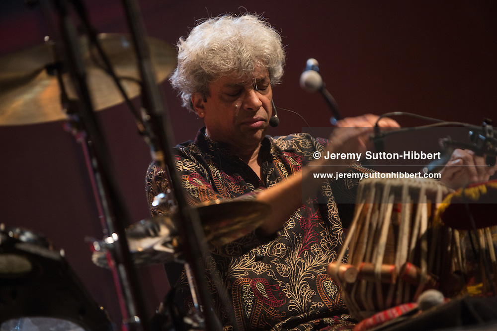 """Dame Evelyn Glennie & Trilok Gurtu perform """"The Rhythm in Me"""", at the Celtic Connections festival in the Royal Concert Hall, Glasgow, Scotland, on 1  February  2017."""