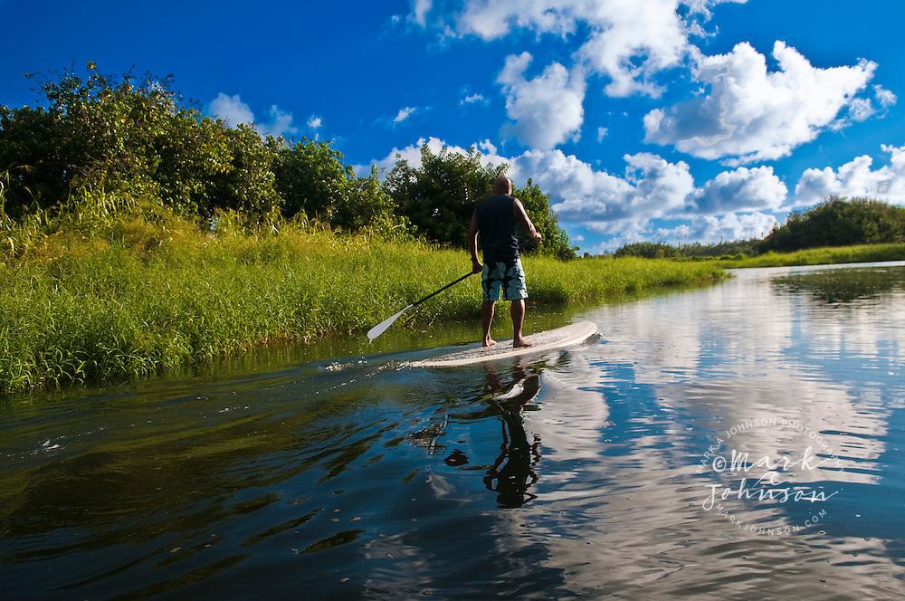 Stand-Up Paddle Boarding on the Wailua River, Kauai, Hawaii