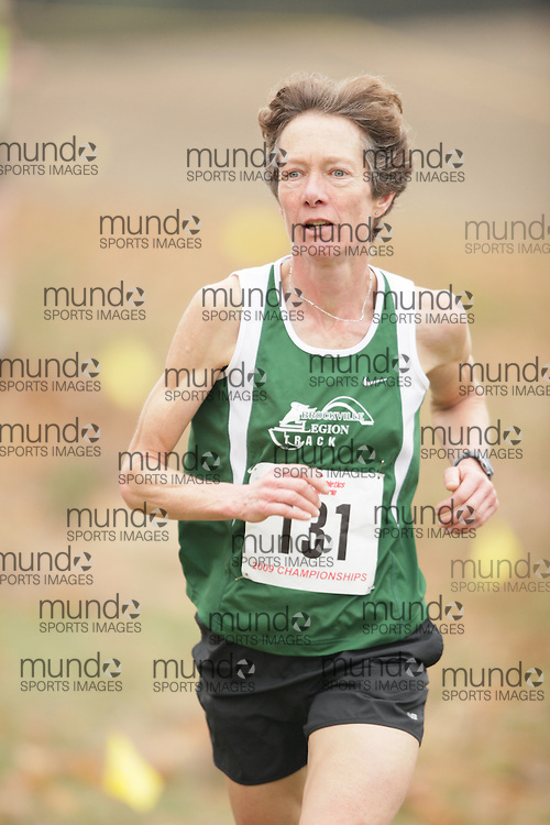 King City, Ontario ---09-11-15--- Janet Wynands of the Brockville Legion competes at the Athletics Ontario Cross Country Championships in King City, Ontario, November 16, 2009..GEOFF ROBINS Mundo Sport Images