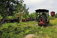 Old steam engines in Guaos, Cienfuegos Province, Cuba.