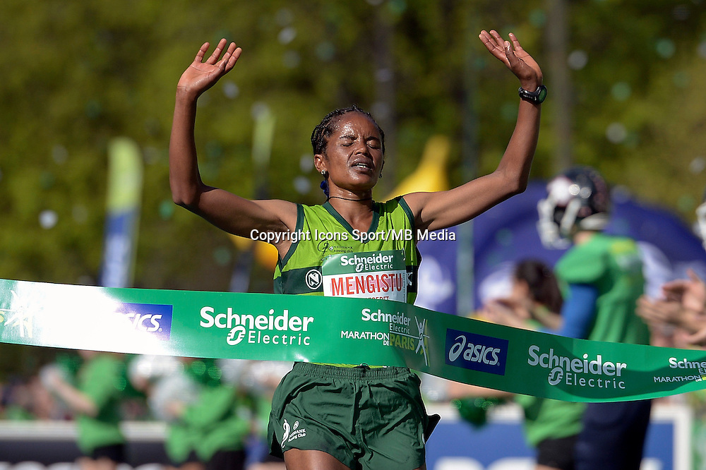 Meseret Mengistu - 12.04.2015 - Marathon de Paris 2015<br />