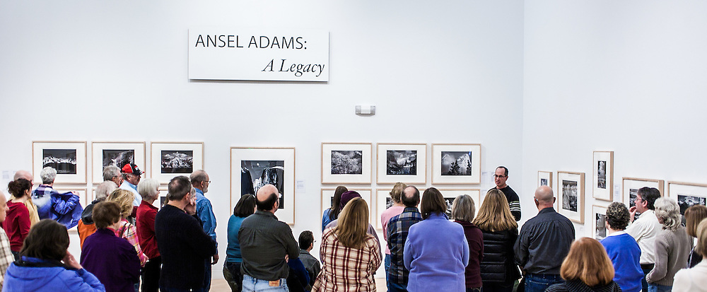 "Kenton Rowe talking about the Ansel Adams 1937 Photograph ""Clearing Winter Storm"" during a 2013 lecture at the Holter Museum of Art in Helena, MT"